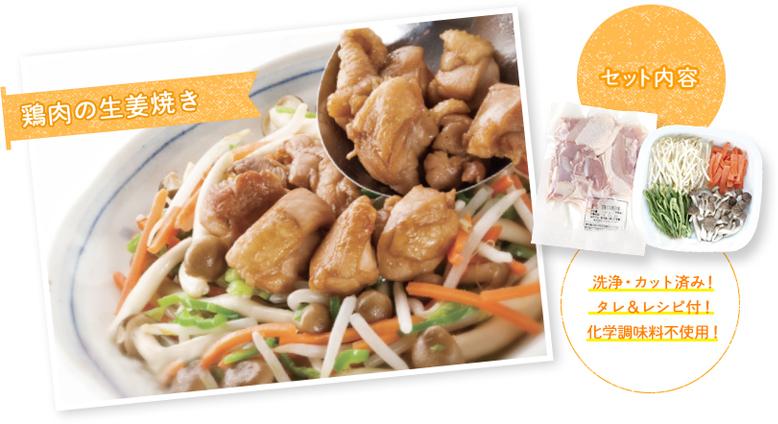 食材セット 鶏肉の生姜焼き