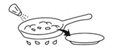 野菜を炒めるイメージイラスト