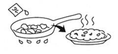 鶏肉を炒めるイメージイラスト